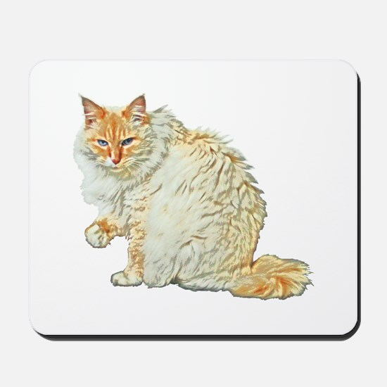Flame point siamese cat Mousepad