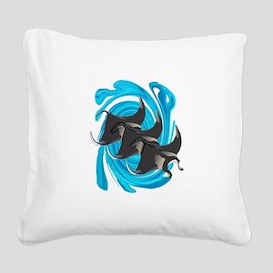 MANTAS Square Canvas Pillow