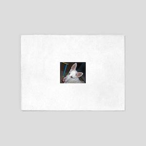 white shepherd 5'x7'Area Rug