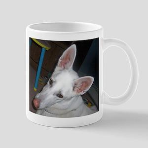 white shepherd Mugs