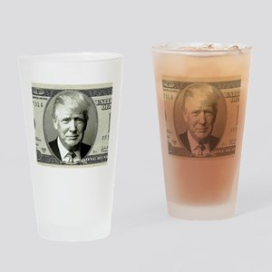 Trump Money Drinking Glass