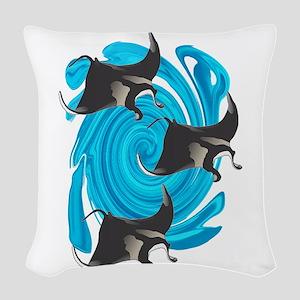 MANTAS Woven Throw Pillow