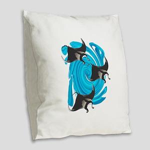 MANTAS Burlap Throw Pillow