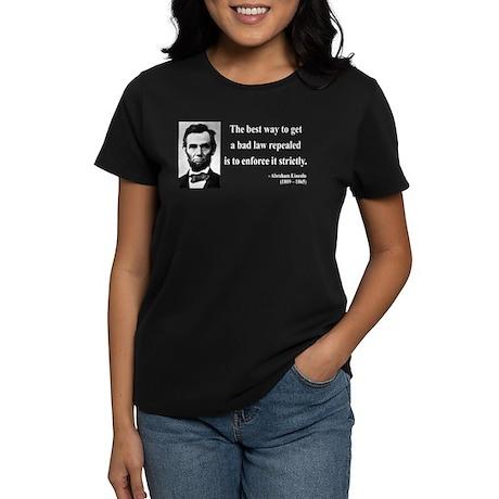 Abraham Lincoln 7 Women's Dark T-Shirt