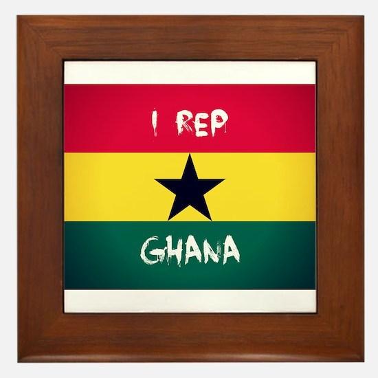 I Rep Ghana Framed Tile