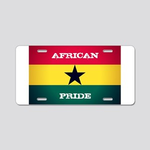 African Pride Ghana Flag Aluminum License Plate