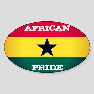 African Pride Ghana Flag Sticker