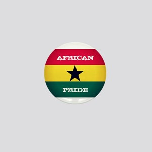 African Pride Ghana Flag Mini Button