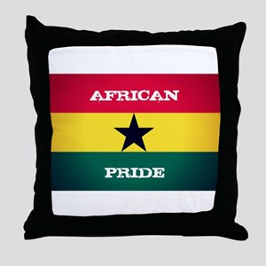 African Pride Ghana Flag Throw Pillow