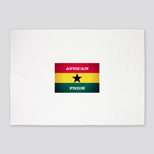 African Pride Ghana Flag 5'x7'Area Rug