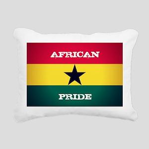 African Pride Ghana Flag Rectangular Canvas Pillow