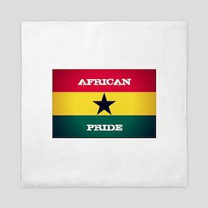 African Pride Ghana Flag Queen Duvet