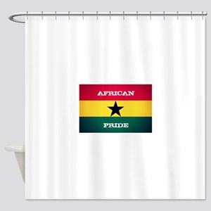African Pride Ghana Flag Shower Curtain