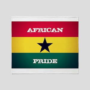 African Pride Ghana Flag Throw Blanket