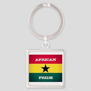 African Pride Ghana Flag Keychains