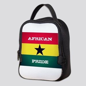 African Pride Ghana Flag Neoprene Lunch Bag