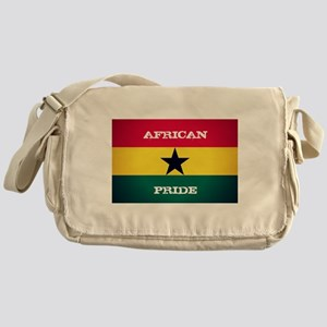 African Pride Ghana Flag Messenger Bag