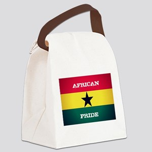 African Pride Ghana Flag Canvas Lunch Bag