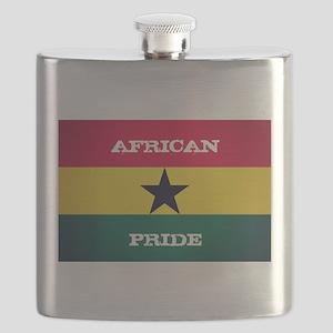 African Pride Ghana Flag Flask