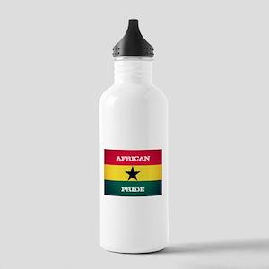 African Pride Ghana Flag Water Bottle