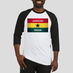 African Pride Ghana Flag Baseball Jersey