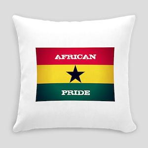 African Pride Ghana Flag Everyday Pillow