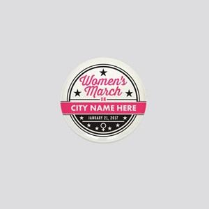Womens March Personalized Mini Button (100 pack)