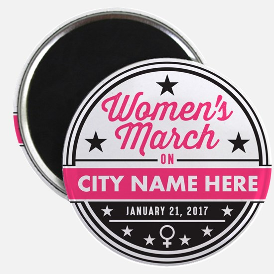 Womens March Personalized Magnets