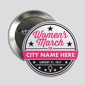 "Womens March Personalized 2.25"" Button"