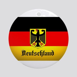 Deutschland Flag Coat of Arms Round Ornament