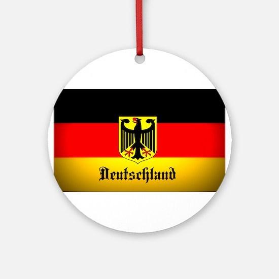 Deutschland Flag Coat of Arms Round Ornament