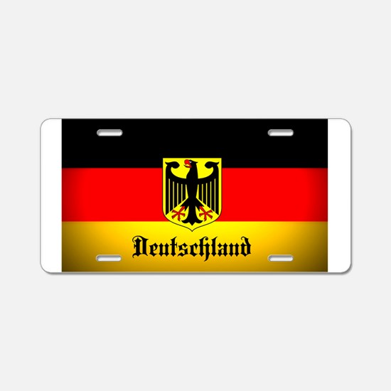 Deutschland Flag Coat of Arms Aluminum License Pla