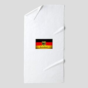 Deutschland Flag Coat of Arms Beach Towel
