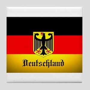 Deutschland Flag Coat of Arms Tile Coaster