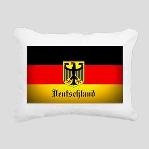 Deutschland Flag Coat of Arms Rectangular Canvas P