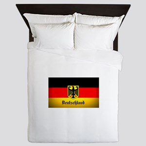 Deutschland Flag Coat of Arms Queen Duvet