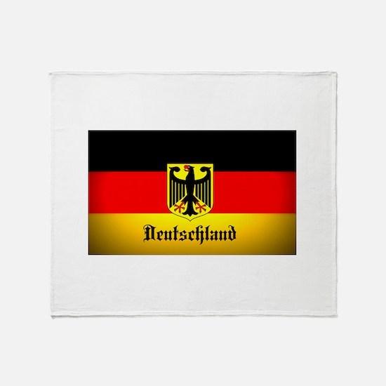 Deutschland Flag Coat of Arms Throw Blanket