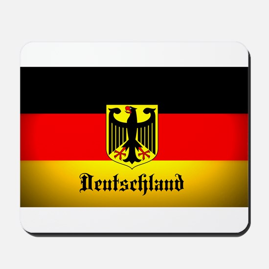 Deutschland Flag Coat of Arms Mousepad