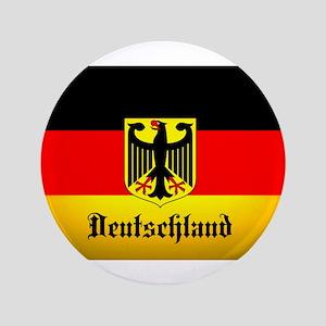 Deutschland Flag Coat of Arms Button