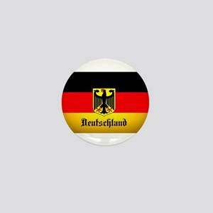 Deutschland Flag Coat of Arms Mini Button
