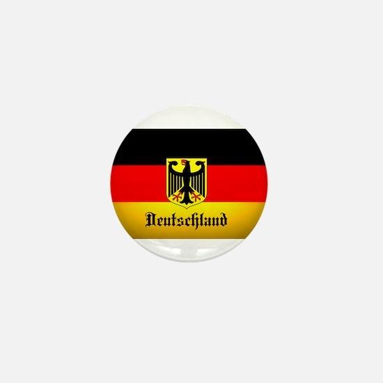 Deutschland Flag Coat of Arms Mini Button
