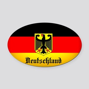 Deutschland Flag Coat of Arms Oval Car Magnet