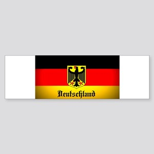 Deutschland Flag Coat of Arms Bumper Sticker