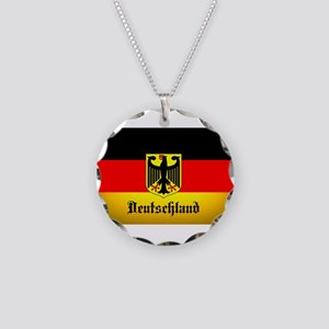 Deutschland Flag Coat of Arms Necklace