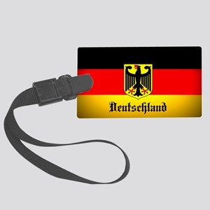 Deutschland Flag Coat of Arms Luggage Tag