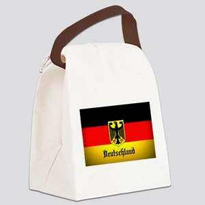 Deutschland Flag Coat of Arms Canvas Lunch Bag