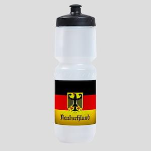 Deutschland Flag Coat of Arms Sports Bottle