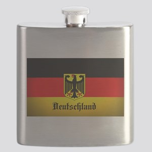 Deutschland Flag Coat of Arms Flask
