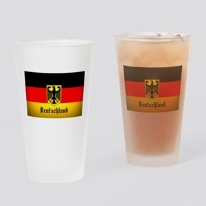 Deutschland Flag Coat of Arms Drinking Glass