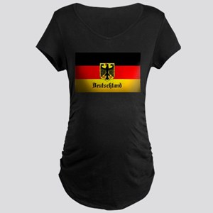 Deutschland Flag Coat of Arms Maternity T-Shirt
